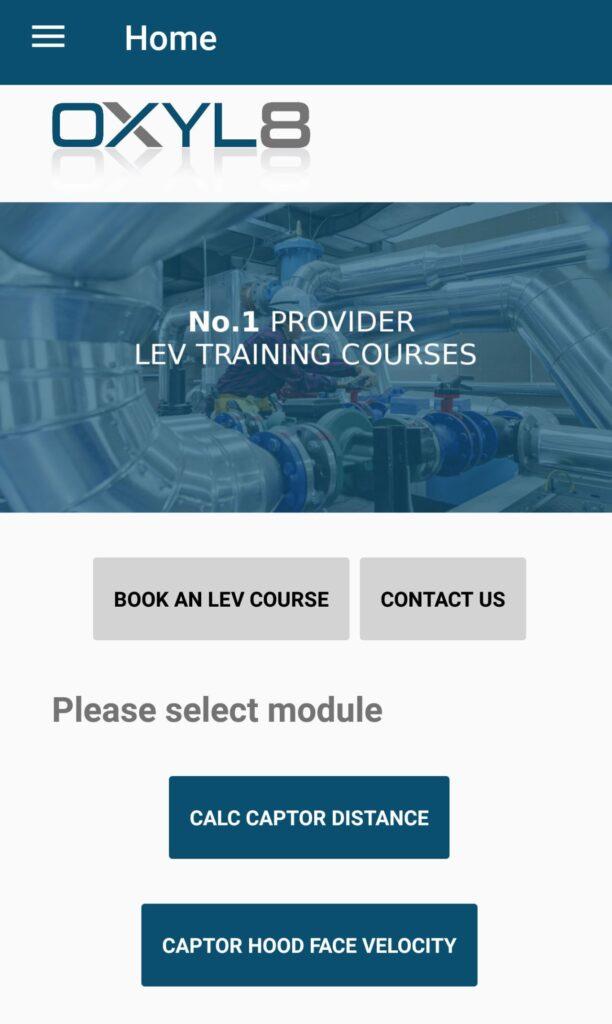 App Screenshot jpg 612x1024 - OXYL8 LEV Captor Hood App